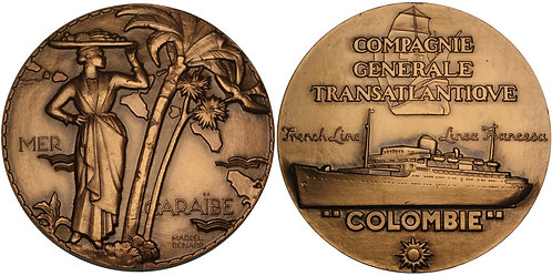 100546  |  FRANCE. Compagnie Générale Transatlantique bronze Medal.