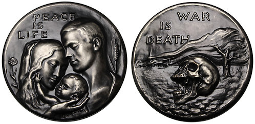 100136  |  UNITED STATES. Peace is Life – War is Death silvered bronze Medal.