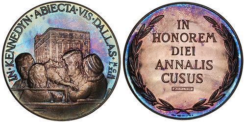 101129  |  UNITED STATES & GERMANY. John F. Kennedy silver Medal.