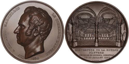 100641  |  BELGIUM. Charles Marcellis bronze Medal.