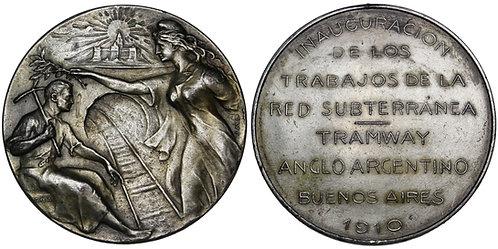 101719      ARGENTINA. Railroad silvered bronze Medal.