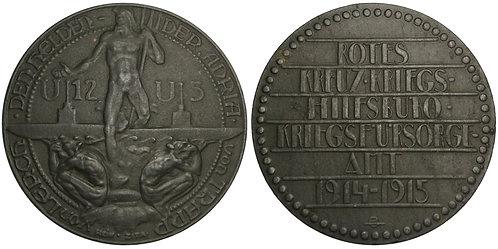 101409  |  AUSTRIA. Naval Heroes of the Adriatic zinc Medal.