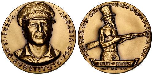 100142  |  UNITED STATES. Bronze Medal. The Deterioration of National Defense.