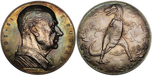 100462  |  CZECHOSLOVAKIA. Zdenek Michael Frantisek Burian silver Medal.