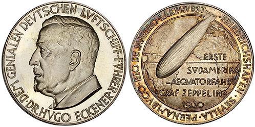 101466  |  GERMANY. Dr. Hugo Eckener/LZ 127 silver Medal.