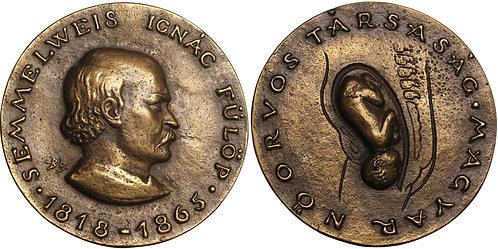 100803     HUNGARY. Ignác Semmelweis cast bronze Medal.