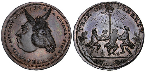 101778     GREAT BRITAIN. Middlesex. Spence's Copper Halfpenny Token.