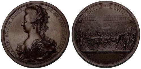 100068  |  FRANCE. Marie Antoinette bronze Medal.