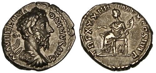 100071  |  ROMAN EMPIRE. Marcus Aurelius silver Denarius.