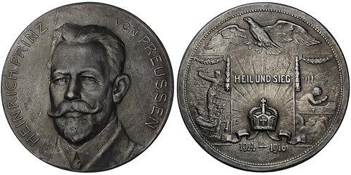100836  |  GERMANY. Prince Heinrich von Preußen zinc Medal.
