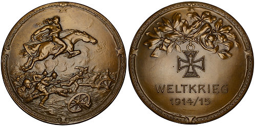 101296  |  GERMANY. Fury on Horseback/Propaganda bronze Medal.