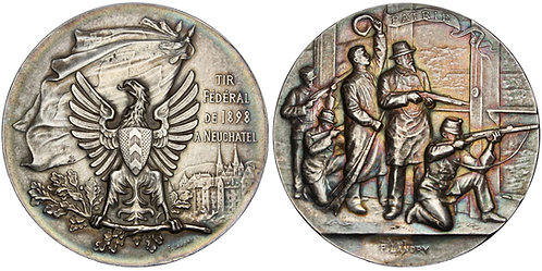101400     SWITZERLAND. Neuchâtel. Silver Schützenmedaille (Shooting Medal).