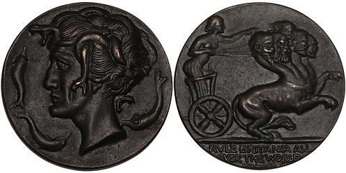100302  |  GREAT BRITAIN & GERMANY. Satirical cast bronze Medal.