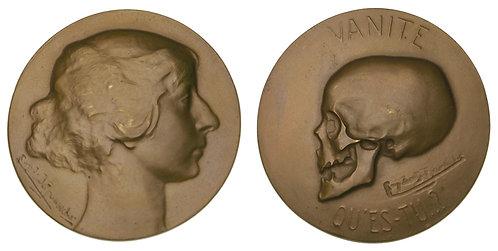 100076  |  BELGIUM. Memento Mori bronze Medal.