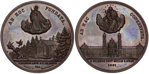 100889  |  SWITZERLAND. Einsiedeln Abbey bronze Medal.