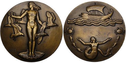 100235  |  FRANCE. Amphitrite – Goddess of the Sea bronze Medal.