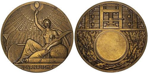 100996  |  FRANCE. Journalism Art Deco bronze Medal.