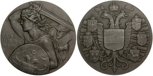 101298  |  AUSTRIA & ITALY. Austria & Italy Alliance zinc Medal.