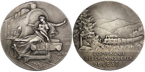 100539  |  FRANCE. Compagnie des Chemins de fer de l'est silver Medal.