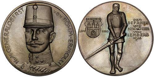 100460     AUSTRIA-HUNGARY & GERMANY. Eduard von Böhm-Ermolli silver Medal.