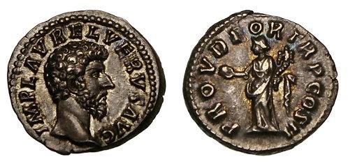 100089  |  ROMAN EMPIRE. Lucius Verus silver Denarius.