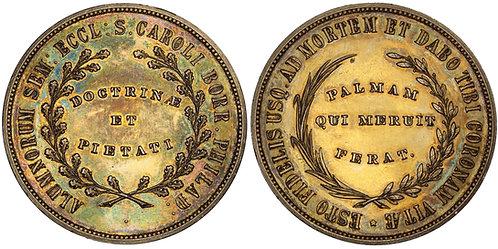 100643  |  UNITED STATES. St. Charles Borromeo Seminary silver Medal.
