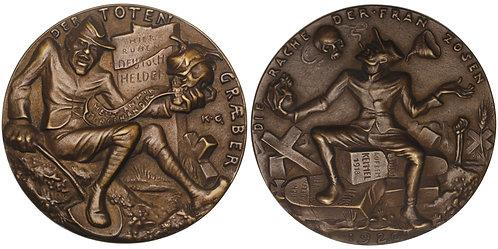 101108  |  GERMANY. Satirical cast bronze Medal.