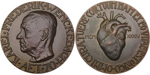 100588  |  NETHERLANDS. Karel Frederik Wenkenbach bronze Medal.