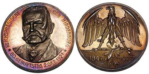 100186  |  GERMANY. Reichspräsident Paul von Hindenburg silver Medal.