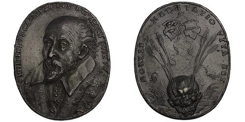 100673  |  GERMANY. Philipp Camerarius oval cast lead Medal.