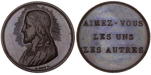 100771  |  SWITZERLAND. Genève. Jesus Christ/Christmas bronze Medal.