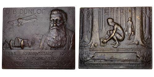 101678  |  FRANCE & SCOTLAND. John Boyd Dunlop small bronze Plaque.