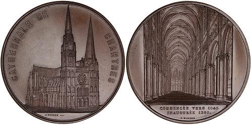 100642  |  100642  |  FRANCE. Cathédrale Notre-Dame de Chartres bronze Medal.