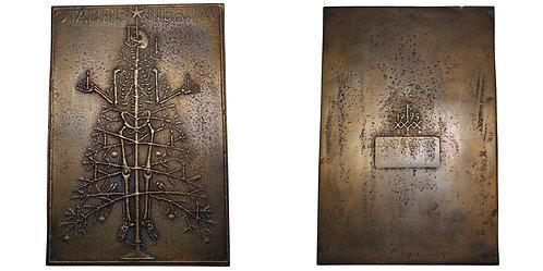 """100369     GERMANY. """"O Tannenbaum"""" bronze Plaque."""
