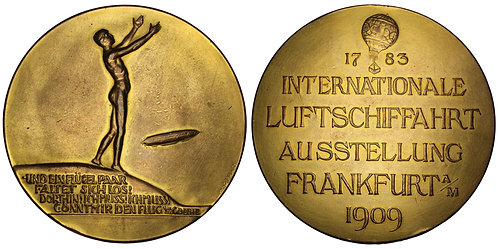 101158  |  GERMANY. Frankfurt. Zeppelin gilt bronze Medal.