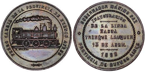 101713  |  ARGENTINA. Railroad bronze Medal.