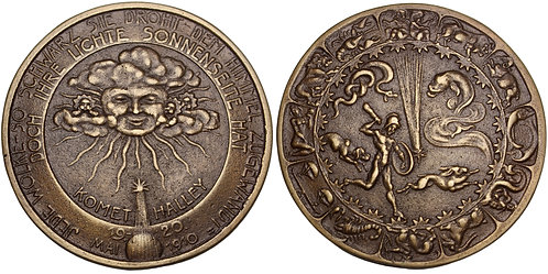 101321  |  GERMANY. Halley's Comet cast bronze Medal.