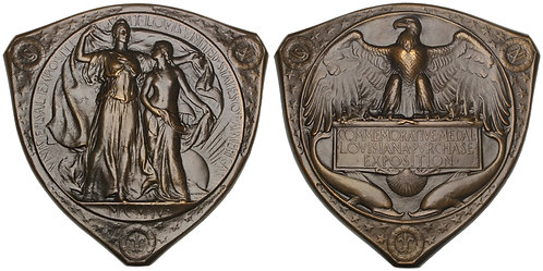 101117  |  UNITED STATES. Louisiana Purchase Int'l Expo bronze award Medal.