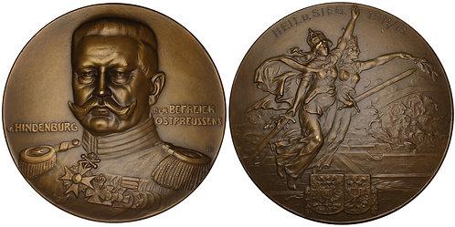 100931  |  GERMANY. Generalfeldmarschall Paul von Hindenburg bronze Medal.