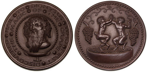 100110     UNITED STATES. Hail to Dionysus bronze Medal.