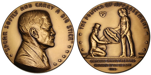 100139     UNITED STATES. Bronze Medal. The Panamamanian Appeasement.