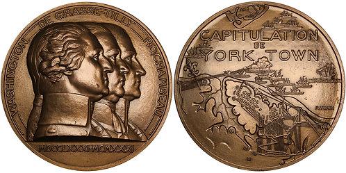 100360  |  UNITED STATES & FRANCE. George Washington bronze Medal.