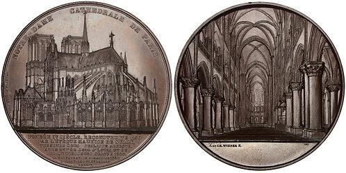 101473  |  FRANCE. Paris. Notre-Dame Cathedral bronze Medal.