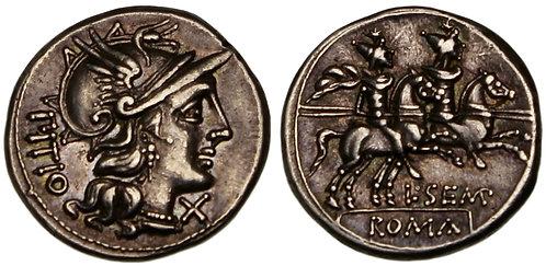 100081  |  ROMAN REPUBLIC. L. Sempronius Pitio silver Denarius.