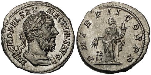 100222     ROMAN EMPIRE. Macrinus silver Denarius.