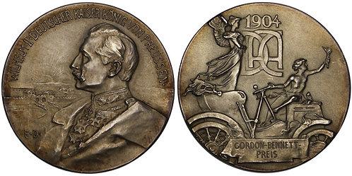 101180  |  GERMANY. Gordon Bennett Cup silver Award Medal.