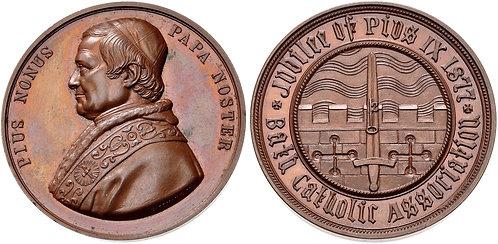 100018   ITALY, Vatican. Pope Pius IX bronze Medal.