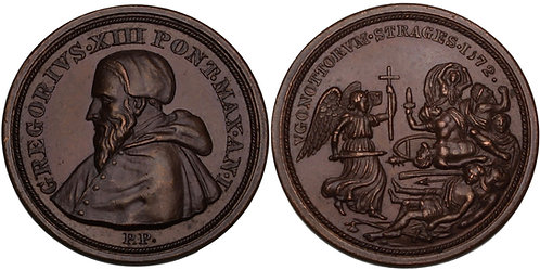 100397  |  ITALY. Papal States. Pope Gregorius XIII bronze Medal.