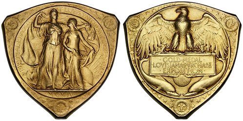 101754     UNITED STATES. Louisiana Purchase/St. Louis Int'l Expo bronze Medal.