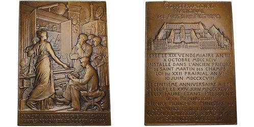 101156  |  FRANCE. Paris. Art Nouveau bronze Plaque.